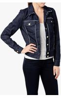 7 For All Mankind Raw Edge Denim Jacket - Lyst