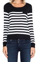 Milly Classic Striped Sweater - Lyst