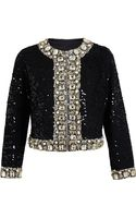 Ashish Jewelled Trim Jacket - Lyst