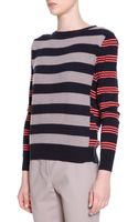 Piazza Sempione Striped Cashmere Pullover Sweater - Lyst