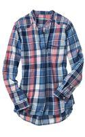 Gap Western Plaid Popover Shirt - Lyst