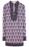 Tory Burch Tory Printed Cotton Tunic - Lyst