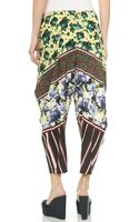 Clover Canyon Floral Collage Pants - Yellow - Lyst