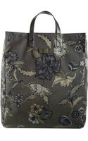 Gucci Flower Print Tote - Lyst