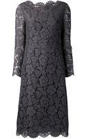 Valentino Portrait Dress - Lyst