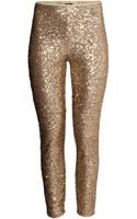 H&M Sequined Trousers - Lyst