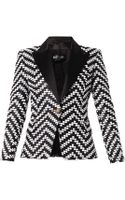 Balmain Bi-colour Bouclé Jacket - Lyst