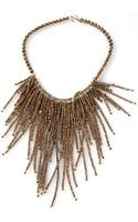 Brunello Cucinelli Fringe Necklace - Lyst