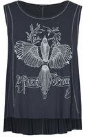 Topshop Womens Swing Tank by Life  Grey - Lyst