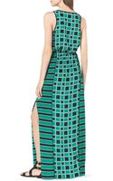 Michael by Michael Kors Soho Square Printed Maxi Dress - Lyst