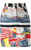 Versace Vintage Flag Print Skirt - Lyst