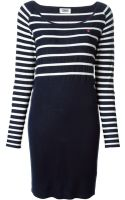 Sonia By Sonia Rykiel Striped Knitted Dress - Lyst