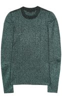 Alexander Wang Woolblend Metallic Sweater - Lyst