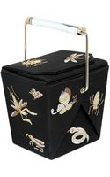 Charlotte Olympia Take Me Away Embroidered Silk Clutch - Lyst