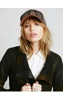 Free People Ashton Plaid and Suede Baseball H - Lyst