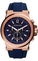 Michael Kors Dylan Rose Goldtone Stainless Steel and Silicone Watch - Lyst