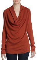 Eileen Fisher Merino Wool Cowlneck Sweater - Lyst