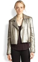 J Brand Aiah Metallic Leather Motorcycle Jacket - Lyst