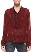 Etoile Isabel Marant Charley Printed Voile Blouse - Lyst