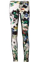 Roberto Cavalli Floral Print Jeans - Lyst