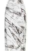Helmut Lang Terrene Print Layered Jersey Skirt - Lyst