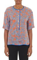 Thakoon Addition Paisley Satin Twill Blouse - Lyst