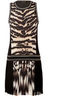 Roberto Cavalli Silk Animal Print Dress - Lyst
