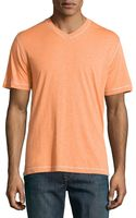 Robert Graham Shortsleeve Relaxed Slubknit Shirt Orange Large - Lyst