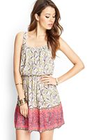 Forever 21 Pleated Paisley Print Dress - Lyst