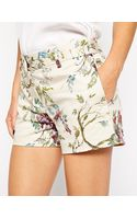 Oasis Botanical Print Coord Short - Lyst