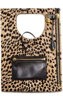 Tom Ford Womens Alix Calf Hair Padlock Zip Shoulder Bag - Lyst