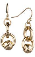 Nine West Small Link Double Drop Earrings - Lyst