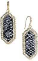 ABS By Allen Schwartz Goldtone Crystal Snake Drop Earrings - Lyst