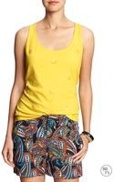 Banana Republic Factory Crochet Tank Dandelion Yellow - Lyst
