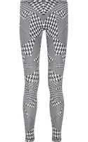 McQ by Alexander McQueen Houndstooth Print Stretch Jersey Leggings - Lyst