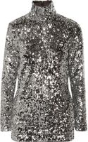 By Malene Birger Zio Sequined Turtleneck Top - Lyst