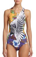 Clover Canyon Neoprene Zipper One-piece Swimsuit - Lyst