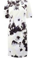 Lela Rose Boatneck Dress - Lyst