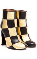 Laurence Dacade Flaubert Checked Leather Ankle Boots - Lyst