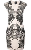 McQ by Alexander McQueen Lace Print Cap Sleeve Dress - Lyst
