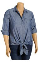 Old Navy Plus Tiewaist Chambray Shirts - Lyst