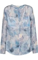 Rebecca Taylor Double Pocket Silk Blouse Dreamy - Lyst