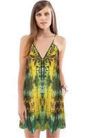 Twelfth Street By Cynthia Vincent Embroidered Mini Dress - Lyst