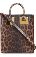 Sophie Hulme Mini Tote Bag Leopard Print - Lyst