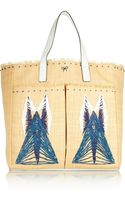 Anya Hindmarch Nevis Leather-trimmed Straw Tote - Lyst