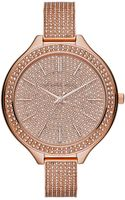 Michael Kors Ladies Glitz Slim Runway Watch - Lyst