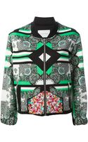 The Textile Rebels Mixed Print Bomber Jacket - Lyst