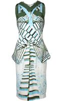 Peter Pilotto Pleated Graphic Dress - Lyst