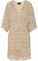 Needle & Thread Geo Petal Beaded Georgette Mini Dress - Lyst