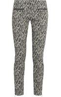 Matthew Williamson Printed Stretch Cotton-blend Skinny Pants - Lyst